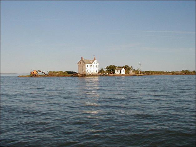 Ilha Holanda na Baía de Chesapeake