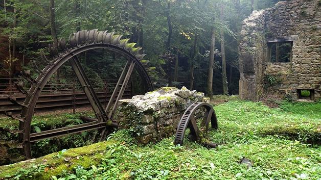 Moinho abandonado na França