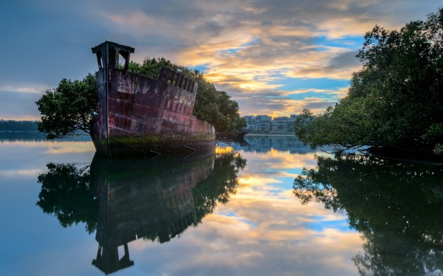 04 The remains of the SS Ayrfield in Homebush Bay, Australia