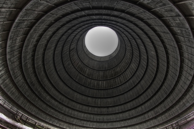 12 Cooling tower of an abandoned power plant