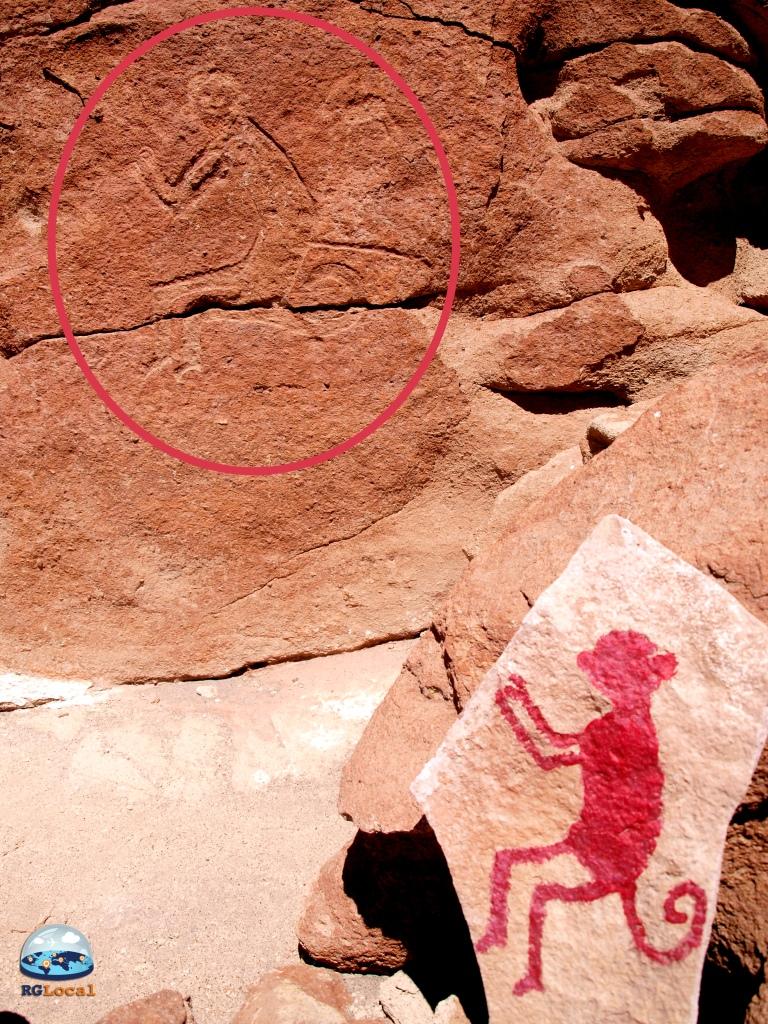 Monos en Petroglifos
